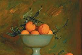 Mandarins in a Green Bowl by MARGARET OLLEY