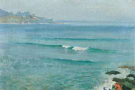 Peaceful Morning at Bondi by ELIOTH GRUNER