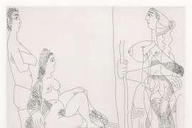 Couple et Voyageuse, from La Série 347 by PABLO PICASSO