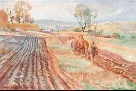 Ploughing by HANS HEYSEN
