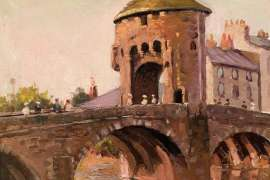 Fortified Bridge over the River Monnow, Monmouth, Wales by WILL ASHTON