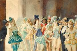 Backstage by NORMAN LINDSAY