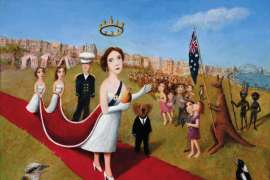 The Queen in Australia by GARRY SHEAD