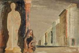 San Giorgio e la Vecchia (St George and the Beggar Woman) by JEFFREY SMART