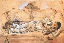 Sleeping Boy by DONALD FRIEND