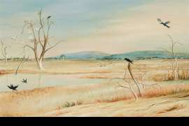 Irrigation Lake, Wimmera by ARTHUR BOYD