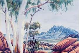 Looking Towards Mt Giles by ALBERT NAMATJIRA
