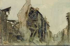 Ruins, Peronne by ARTHUR STREETON