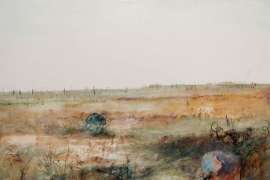 Bride in a Wimmera Landscape by ARTHUR BOYD