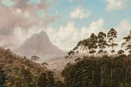 Mount Ida from Fisherman's Camp, Lake St Clair, Tasmania by HAUGHTON FORREST