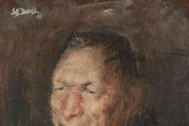 Study for Portrait of Professor L. F. Giblin by WILLIAM DOBELL