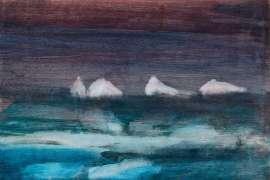 Icebergs, Antarctica by SIDNEY NOLAN