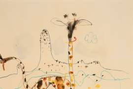 Giraffes and Mt. Kenya by JOHN OLSEN