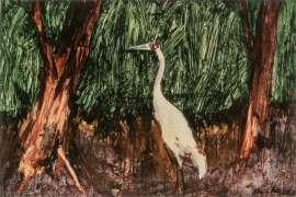 Brolga and Trees by ALBERT TUCKER