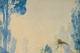 Blue Nymphs by NORMAN LINDSAY