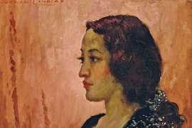 Rita in Profile by NORMAN LINDSAY