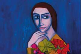 Woman with Flowers by ROBERT DICKERSON
