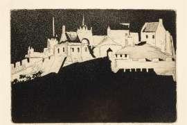 Floodlit (Edinburgh Castle) by JESSIE TRAILL