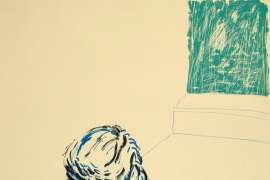 Joe with Green Window by DAVID HOCKNEY