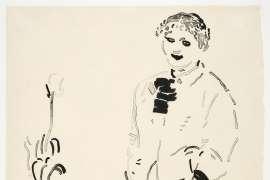 Celia Amused by DAVID HOCKNEY