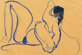 Blue Nude 5 by BRETT WHITELEY