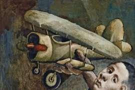 Untitled (Boy with Bi-Plane) by McLEAN EDWARDS