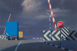 Level Crossing by JEFFREY SMART