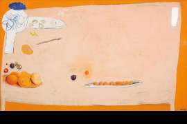 The Orange Table by BRETT WHITELEY