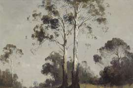 Ghost Gums and Figure by PENLEIGH BOYD