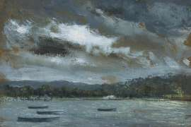 Storm over Wangi by WILLIAM DOBELL