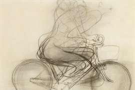 Girl on a Bike by BRETT WHITELEY