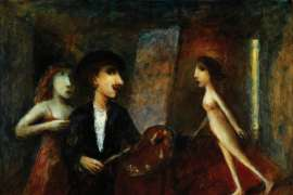 The Jealous Muse (Rembrandt) by GARRY SHEAD