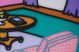 Room with Pink Chair by HOWARD ARKLEY