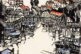 Mosman Bay Bridge by MARGARET PRESTON