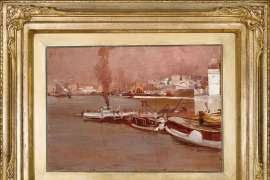 Lot 28. Tim Roberts North Shore (Study for An Autumn Morning, Milson's Point, Sydney) 1888 image
