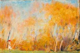 52. ARTHUR STREETON Autumn Day 1891 image