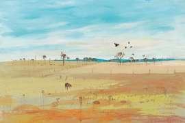 48. ARTHUR BOYD Wimmera Landscape c1980 image