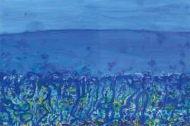 35. JOHN OLSEN Childhood by the Sea, Popping Blue Bottles 2010 image
