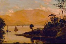 50. HAUGHTON FORREST Mount Wellington and Hobart from the Eastern Shore c1880 image