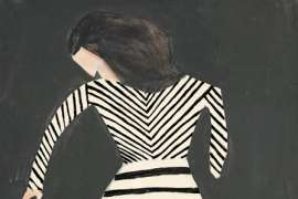 34. CHARLES BLACKMAN Girl with Striped Dress 1954 image