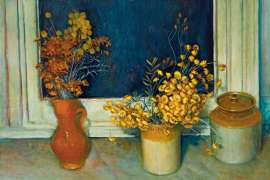 54. MARGARET OLLEY (1923-2011) Everlasting Daisies1974 image
