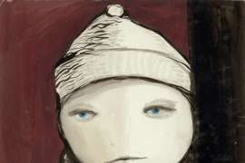 48. JOY HESTER Untitled (Child with Hat and Scarf) c1955 image