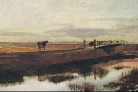 23. FREDERICK McCUBBIN Cows Crossing McCauley Creek, Looking towards Melbourne c1882 image