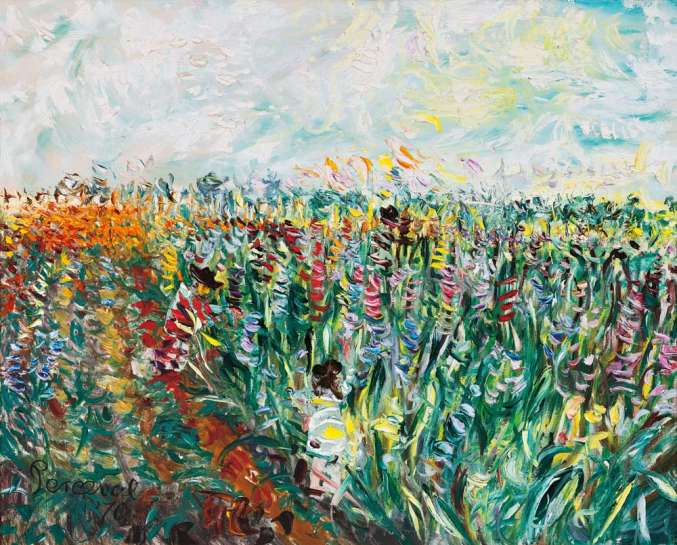 Gladioli Farm by JOHN PERCEVAL