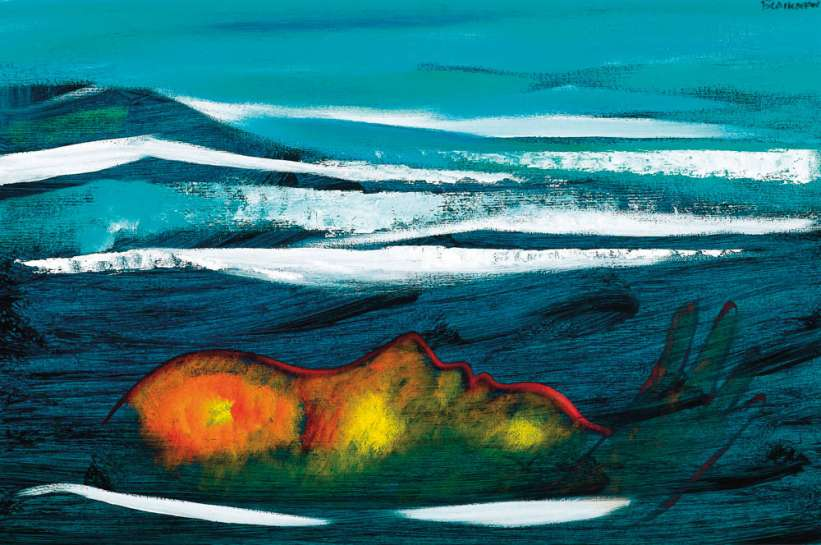 Floating Swimmer by CHARLES BLACKMAN