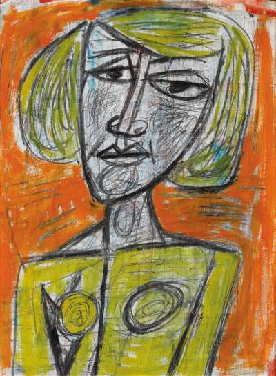 Untitled (Portrait of a Seated Woman) by TONY TUCKSON