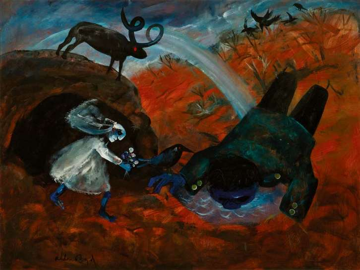 Bride and Bridegroom with Rainbow by ARTHUR BOYD