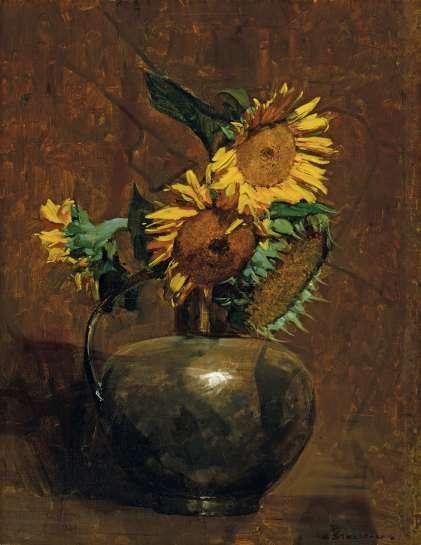 Sunflowers by ARTHUR STREETON