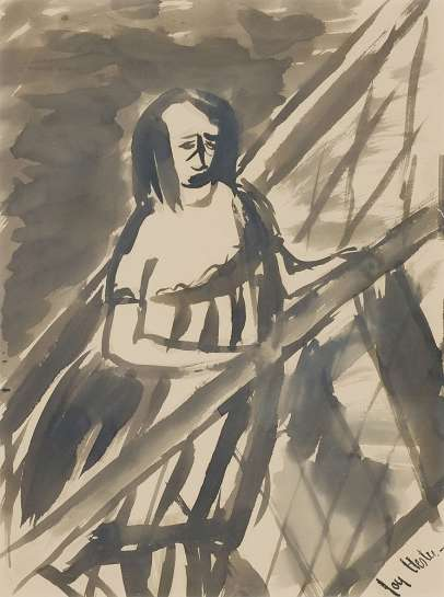 Woman at Handrail by JOY HESTER