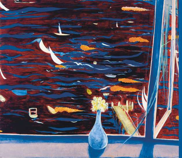 Westerly with Daisies (View of Lavender Bay) by BRETT WHITELEY